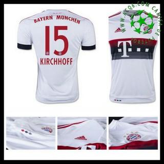 Camisas De Futebol Bayern München (15 Kirchhoff) 2015-2016 Ii Masculina