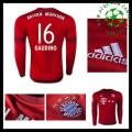Camisas De Futebol Bayern München (16 Gaudino) Manga Longa 2015 2016 I Masculina