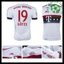 Camisa De Futebol Bayern München (19 Gotze) 2015-2016 Ii Masculina