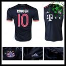 Camisa Du Futebol Bayern München (10 Robben) 2015-2016 Iii Masculina