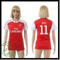 Arsenal Camisa Futebol Ozil 2015 2016 I Feminina
