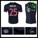 Camisas Futebol Bayern München (25 Muller) 2015-2016 Iii Masculina