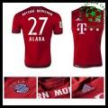 Camisas Futebol Bayern München (27 Alaba) 2015-2016 I Masculina