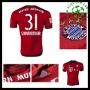 Uniformes De Futebol Bayern München (31 Schweinsteiger) 2015 2016 I Masculina