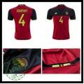 Camisas Futebol (4 Kompany) Bélgica Autêntico I Euro 2016 Masculina