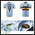 Camisas Du Futebol (9 Lukaku) Bélgica Autêntico Ii Euro 2016 Masculina