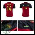 Camisa Futebol (14 Mertens) Bélgica Autêntico I Euro 2016 Masculina