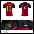 Camisetas (10 E.Hazard) Bélgica Autêntico I Euro 2016 Masculina