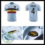 Camisa Futebol (4 Kompany) Bélgica Autêntico Ii Euro 2016 Masculina