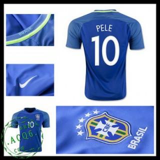 Camisa Du Futebol Brasil Pele 2016 2017 Ii Masculina