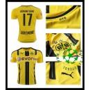 Camisa De Futebol Borussia Dortmund Aubameyang 2016-2017 I Masculina