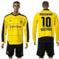 Borussia Dortmund Camisas De Futebol Mkhitaryan Manga Longa 2015 2016 I Masculina