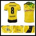Camisa Du Futebol Borussia Dortmund (8 Gundogan) 2015 2016 I Masculina