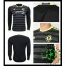Uniforme De Futebol Chelsea Manga Longa 2016/2017 Ii Masculina