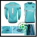Camisa Du Futebol Chelsea (1 Begovic) Manga Longa 2015/2016 I Goleiro