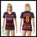 Barcelona Camisas Du Futebol A.Iniesta 2015-2016 I Feminina