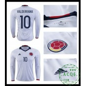 Para Camisa Futebol Manga Longa Valderrama Colômbia Masculina 2016/2017 I Online Store