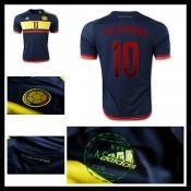 Uniforme De Futebol Colômbia (10 Valderrama) 2015 2016 Ii Masculina