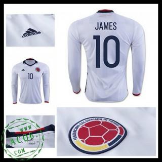 Camisas Futebol Colômbia James Manga Longa 2016-2017 I Masculina