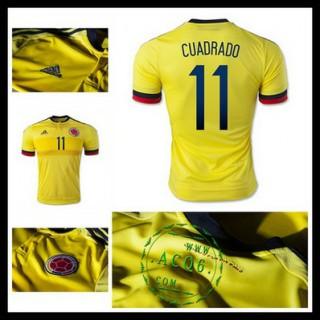 Camisa Futebol Colômbia (11 Cuadrado) 2015-2016 I Masculina