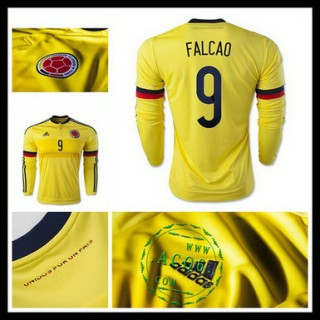 Camisa Futebol Colômbia (9 Falcao) Manga Longa 2015/2016 I Masculina