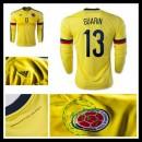 Camisas De Futebol Colômbia (13 Guarin) Manga Longa 2015-2016 I Masculina
