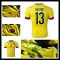 Camisas Futebol Colômbia (13 Guarin) 2015 2016 I Masculina
