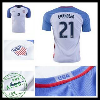 Camisa De Futebol Eua Chandler 2016/2017 I Masculina