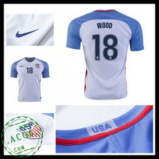 Camisa De Futebol Eua Wood 2016/2017 I Masculina