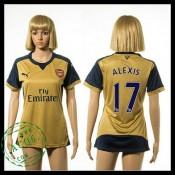 Arsenal Camisas Futebol Alexis 2015 2016 Ii Feminina