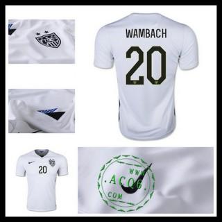 Camisa De Futebol Estados Unidos (20 Wambach) 2015/2016 I Masculina