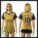 Arsenal Camisas Futebol Wilshere 2015-2016 Ii Feminina