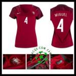 Criar Uniforme Futebol Miguel Portugal Feminina 2016 2017 I Loja On-Line