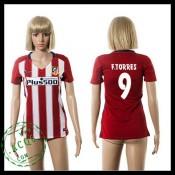 Atlético Madrid Camisas F.Torres 2015-2016 I Feminina