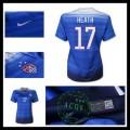 Camisa De Futebol Estados Unidos (17 Heath) 2015/2016 Ii Feminina