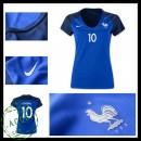 Camisa Futebol França Benzema Euro 2016/2017 I Feminina