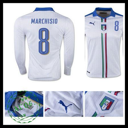 7938a02adbd75 Camisa De Futebol Manga Longa (8 MARCHISIO) Itália MASCULINA Euro 2016 II