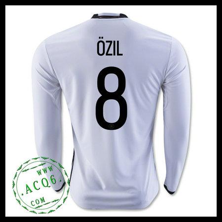 Camisa De Futebol Alemanha (8 OZIL) Manga Longa Euro 2016 I MASCULINA 192637acba4a7