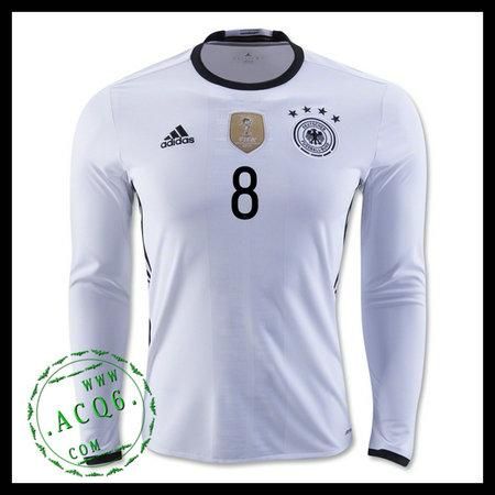 Alemanha Camisa De Futebol (8 OZIL) Manga Longa Euro 2016 I MASCULINA 5b799777ffe5c