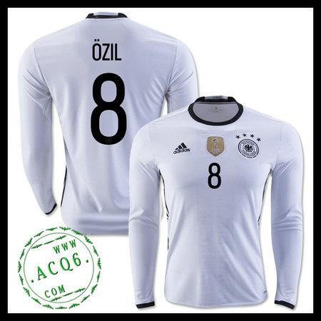12c8060552 Camisa De Futebol Manga Longa (8 OZIL) Alemanha MASCULINA Euro 2016 I