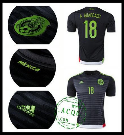 Camisa De Futebol México (18 A.Guardado) 2015 2016 I Masculina ... 139ca772d628e
