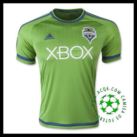 3b5d41a8a0 Camisa De Futebol Seattle Sounders (19 BARRETT) 2015 2016 I MASCULINA