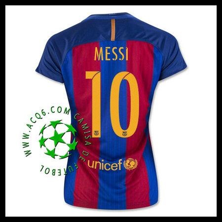 f161ad57ace53 Comprar Uniformes Futebol Messi Barcelona Feminina 2016 2017 I Loja ...