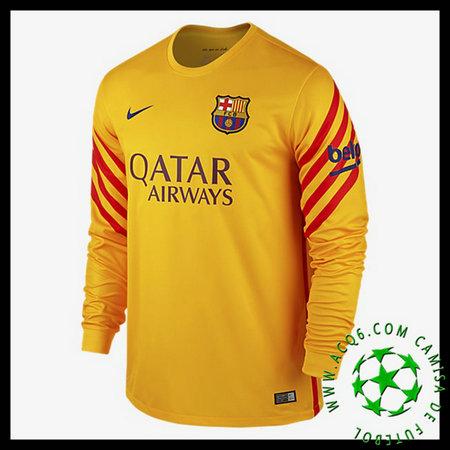 5a2867ff9f0bb Camisetas Barcelona Manga Longa 2015-2016 Ii Goleiro - camisolas de ...