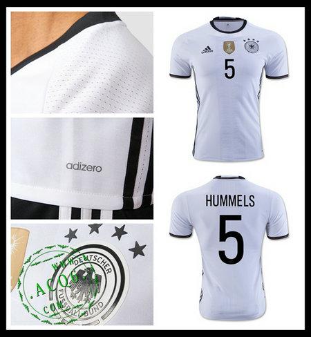 Camisetas (5 Hummels) Alemanha Autêntico I Euro 2016 Masculina ... 0feae21e058b6