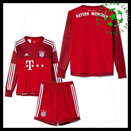 Camisa Bayern München Manga Longa Goleiro 2015-2016 Ii Infantil ... 487400583949c