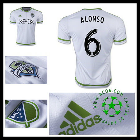 Camisa II Seattle Sounders (6 ALONSO) 2015 2016