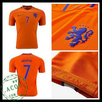 1baf876ba9da3 Camisas Futebol Holanda Memphis 2016 2017 I Masculina - camisolas de ...