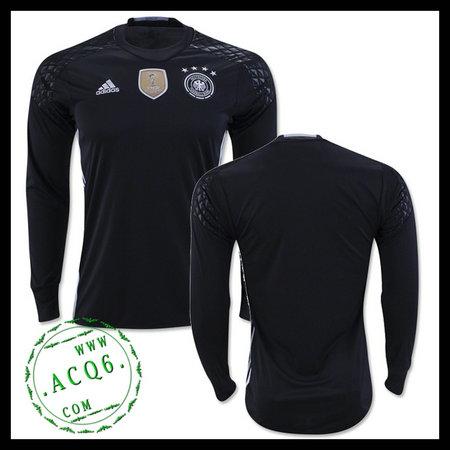 e5fee531fc Camisas Du Futebol Alemanha Autêntico I Manga Longa Euro 2016 ...