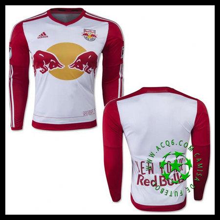 Camisas De Futebol New York Red Bulls Manga Longa 2015-2016 I MASCULINA 14a9c044ecdb5
